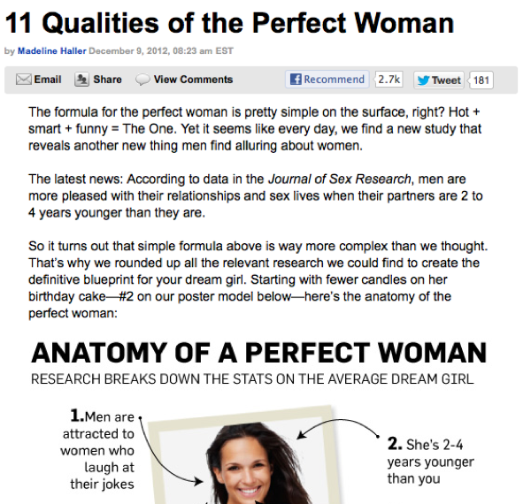 Anatomy of A Perfect Woman - Qualities of A Perfect Woman - Men\'s Health