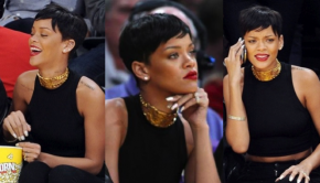 rihanna-nails-lakers-game