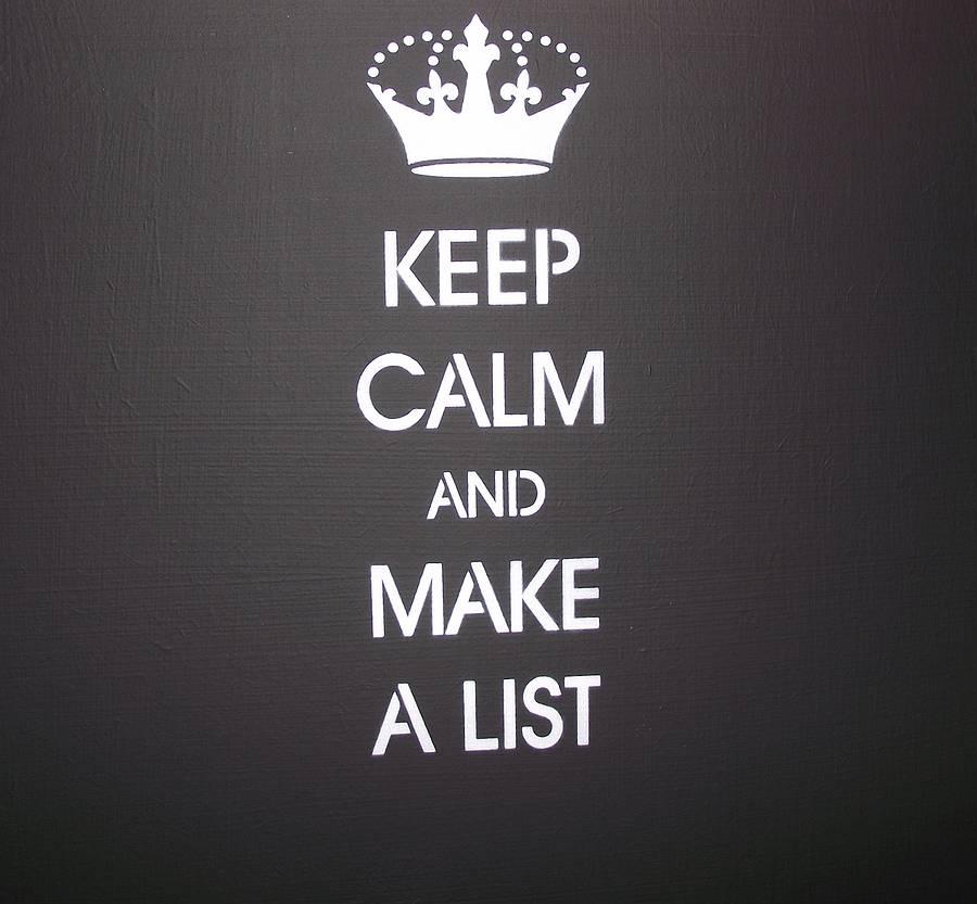 Make A List Score Your Dates Market Yo By Amy Webb