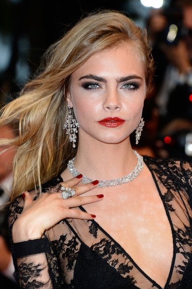 2013 Cannes Film Festival Cara Delevingne Hair And Makeup
