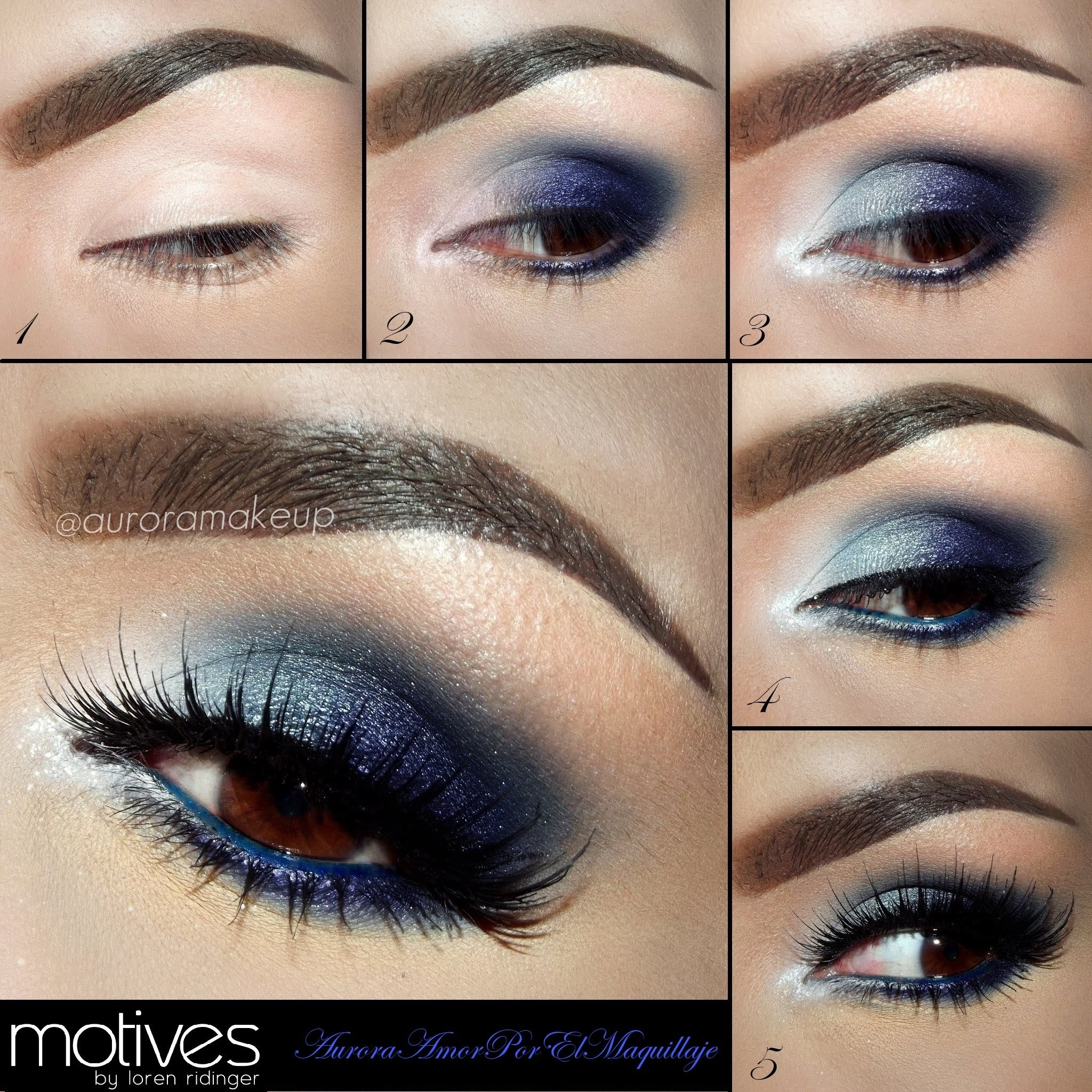 Eye Makeup Dark Blue Dress