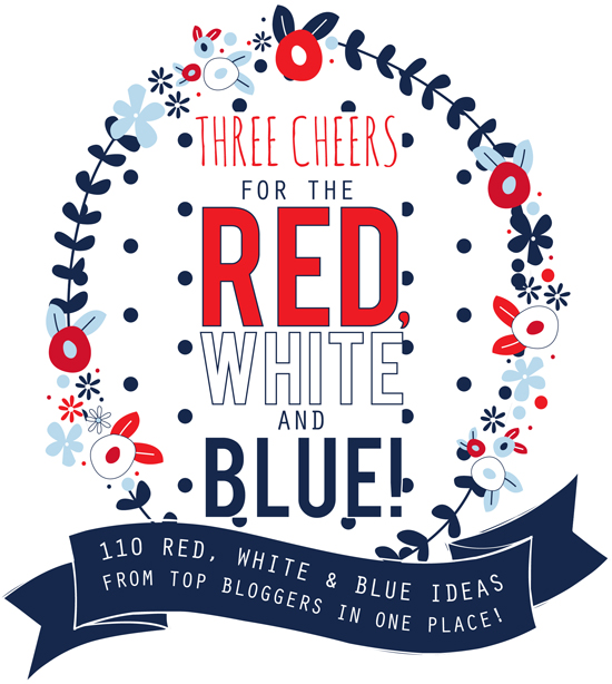 Three Cheers for the Red White and Blue Free Printable