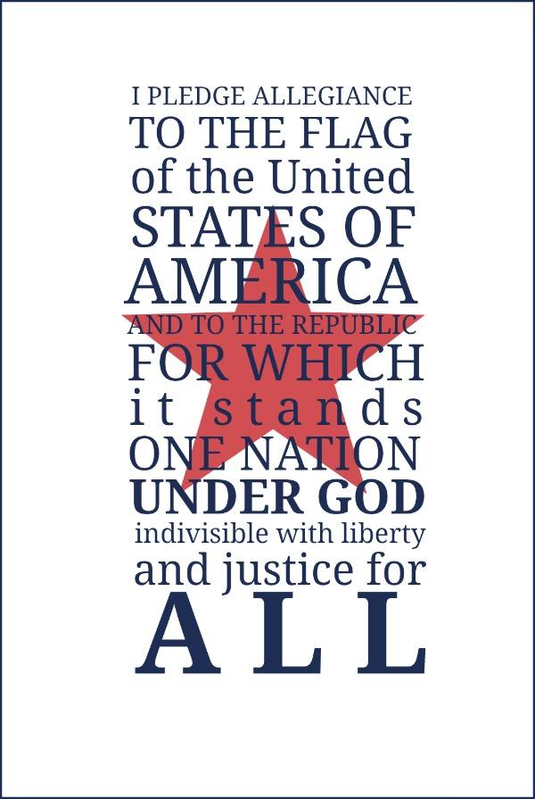 Christian Pledge Of Allegiance Printable