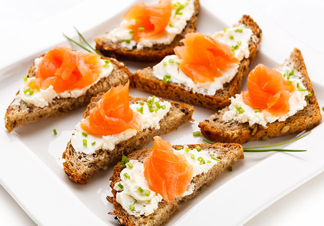 Smoked Salmon with Cream Cheese - Healthy Snack Ideas