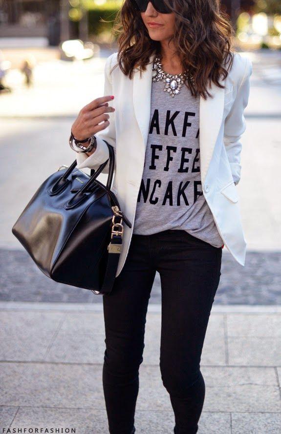 6 Ways to Dress up a Plain T-Shirt
