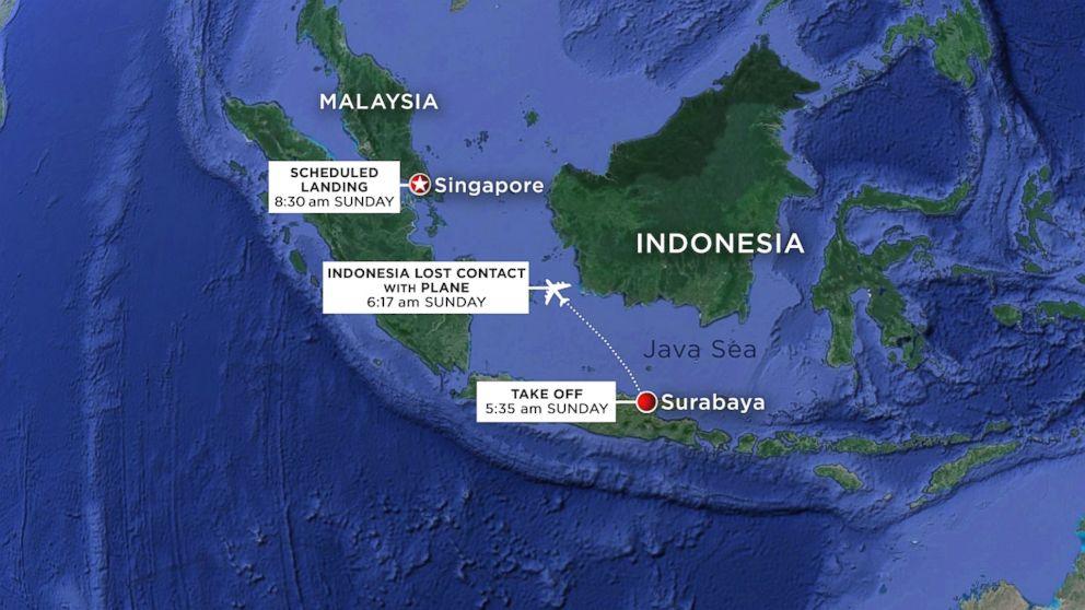 AirAsia Airbus Map Flight