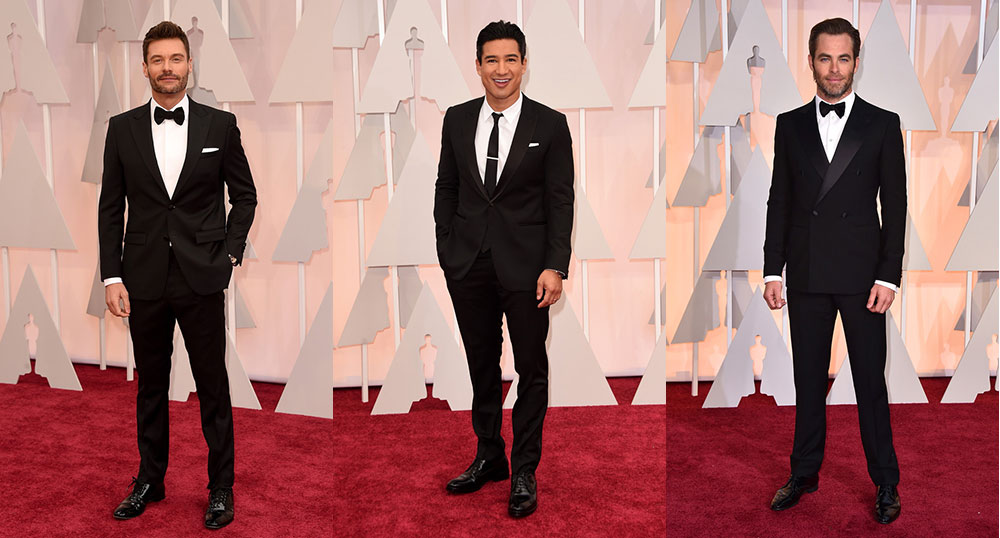 ... opted for shades of blue in their standout suits for the 2015 Oscars