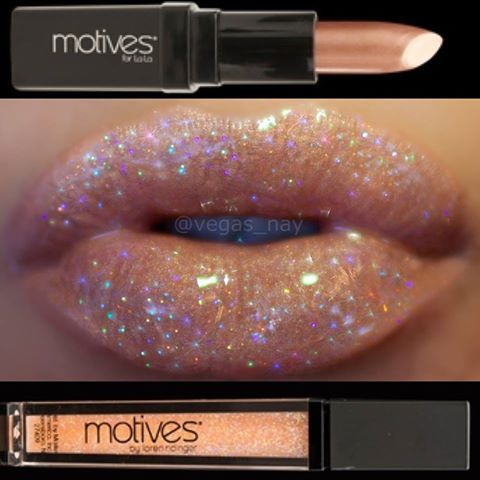 glam nude and sparkle lip