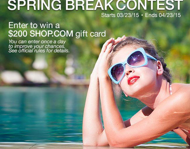 SHOP.COM Spring Break Contest