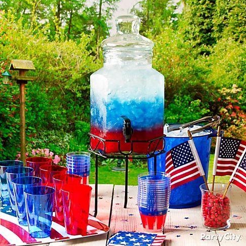 non alcoholic patriotic punch