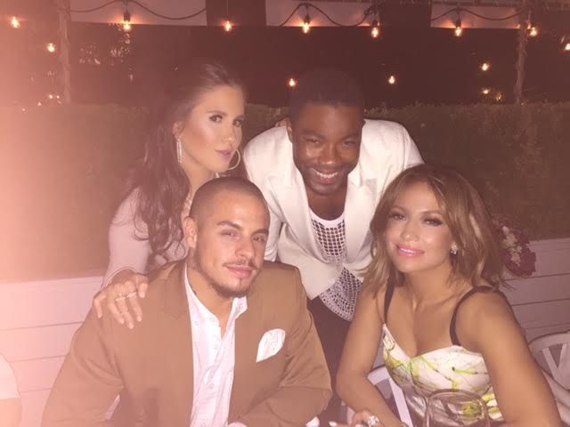 Amber Ridinger McLaughlin and Duane McLaughlin with Jennifer Lopez and Casper Smart