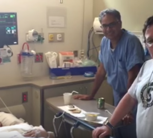 Dr. Aman Patel with Loren and JR Ridinger Post Angiogram Interview 2015