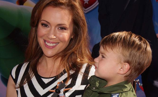 Alyssa Milano and Child