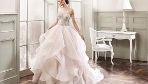 flowy bridal gown
