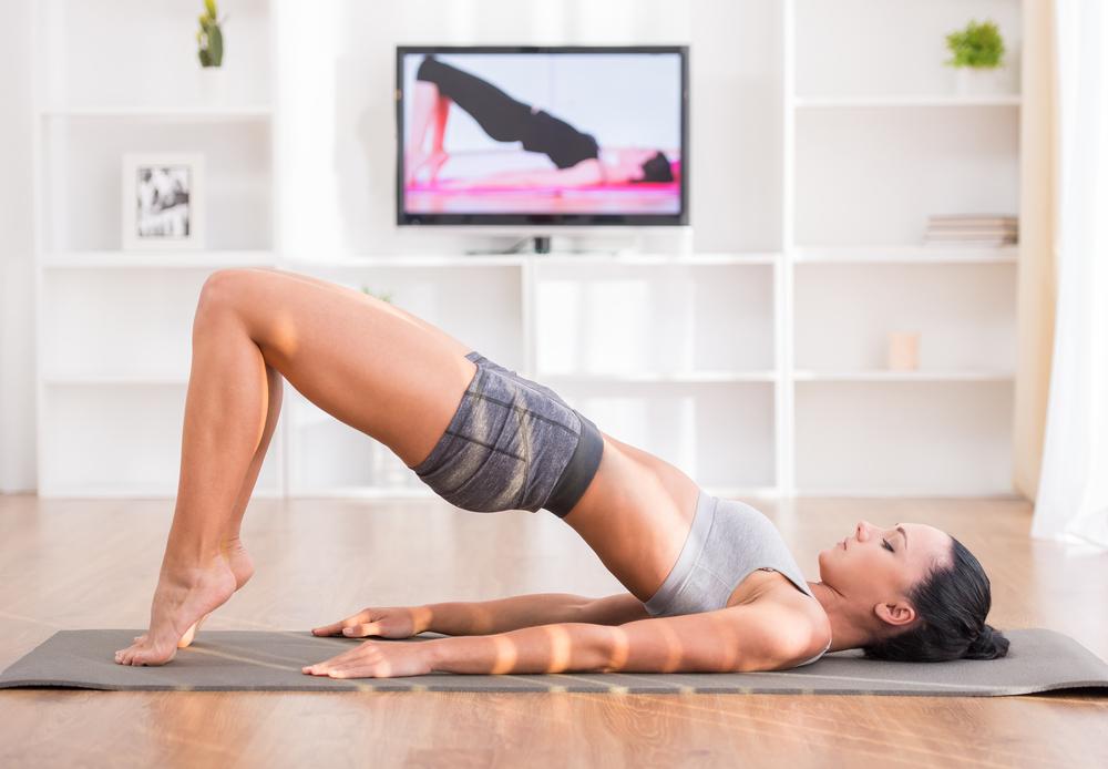 exercising on youtube