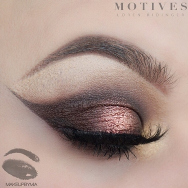 copper eyeliner wing tutorial
