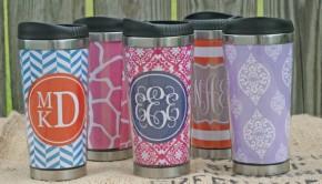 monogrammed travel mug tumbler