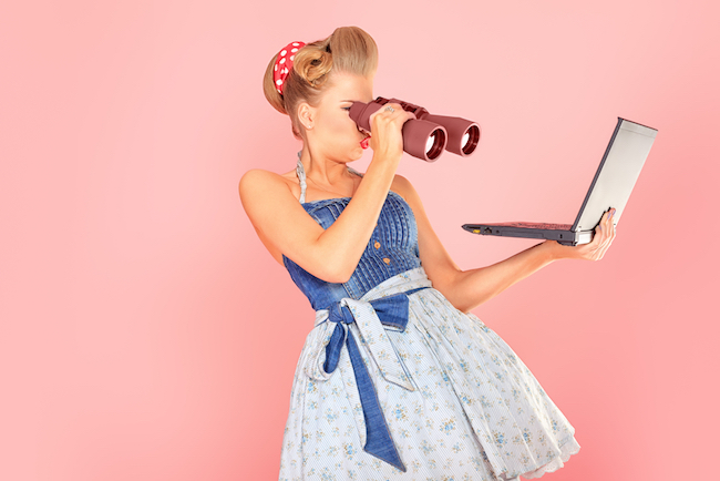 woman, vintage, weekend links, woman on computer