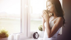 woman, coffee, waking up gorgeous