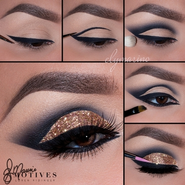 ring bling eye liner tutorial