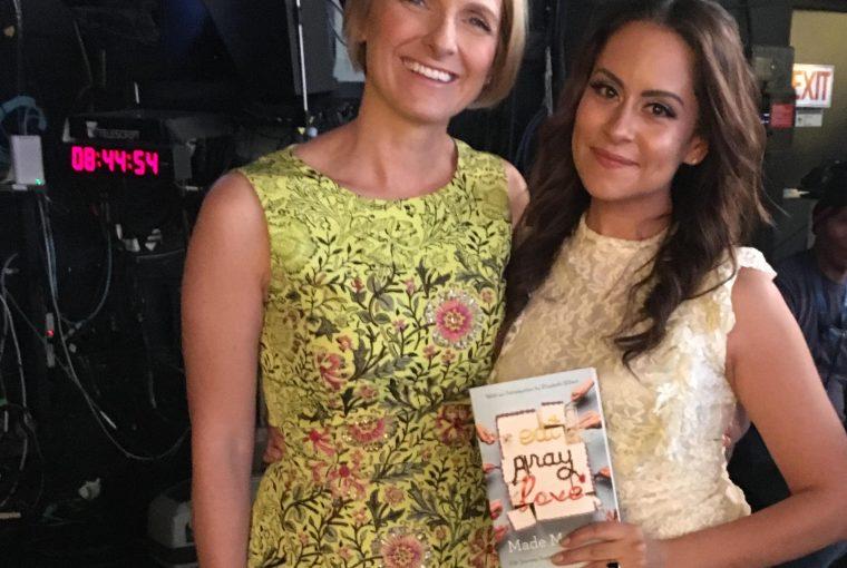 Lisann Valentin with Elizabeth Gilbert at Good Morning America