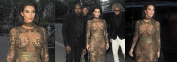 kim kardashian, kanye west, nude dress, vogue 100 gala, bronze gown, lace gown, kim k, kim kardashian west, kim k west