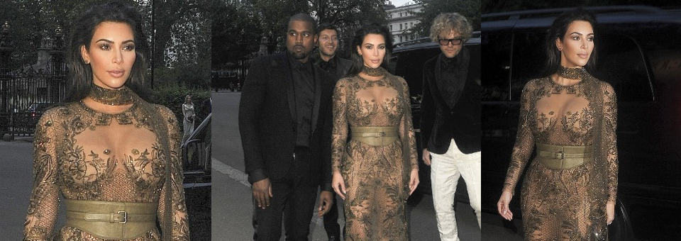 kim kardashian, kanye west, nude dress, vogue 100 gala, bronze gown, lace gown, kim k, kim kardashian west, kim k west