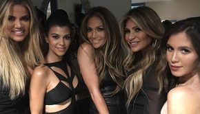header-Loren Ridinger, Jennifer Lopez, Amber Ridinger, Khloe Kardashian, Kourtney Kardashian All I Have Show Backstage