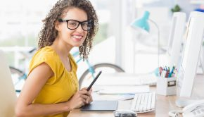 boost your creativity, creative, creative juices, woman smiling in front of computer, creative women, get creative