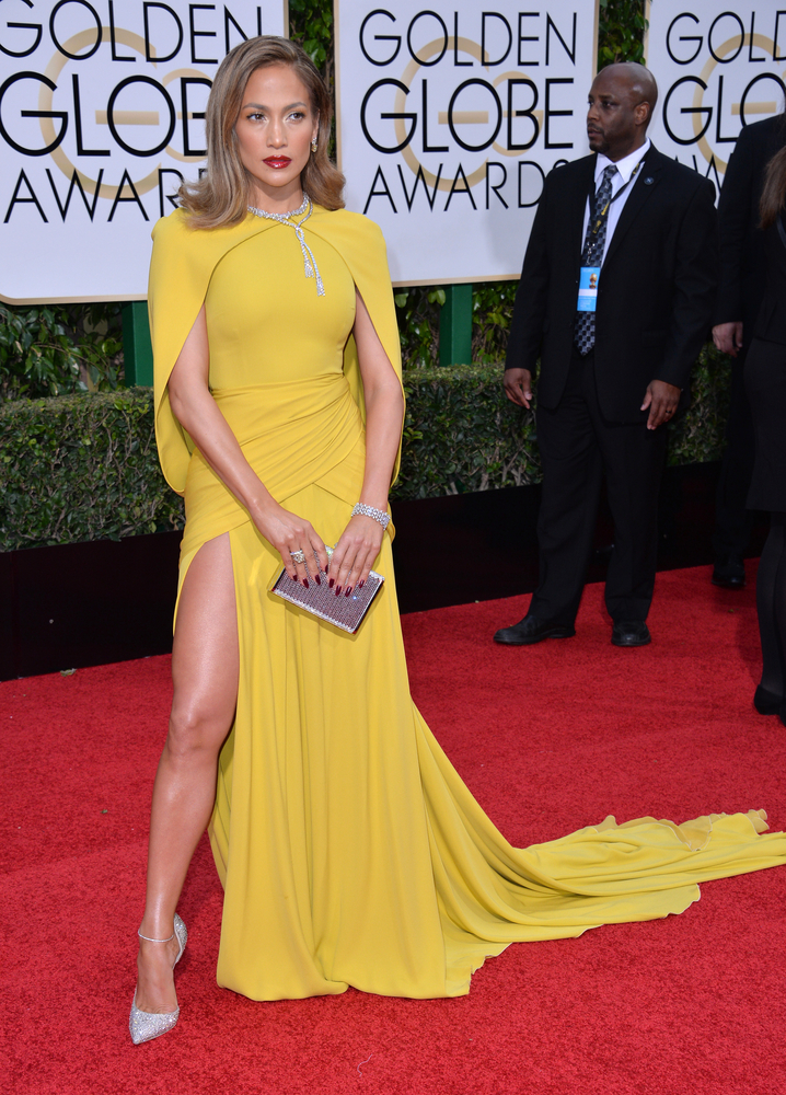 Jlo yellow dress top