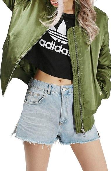 bomber jacket, emma roberts, coach, jackets, splurge, steal, green bomber jacket