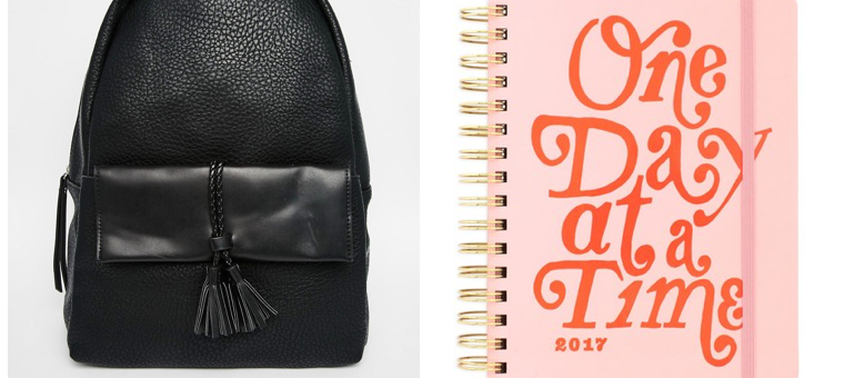 back to school, back to school must-haves, backpack, ban.do, agenda, hairlip, headphones, pens