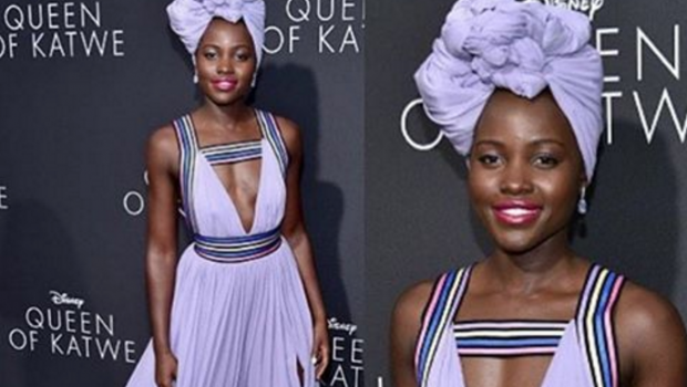 """Get the Look: Lupita Nyong'o at """"Queen of Katwe"""" Premiere"""