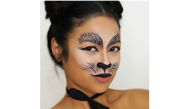 cat halloween makeup tutorial