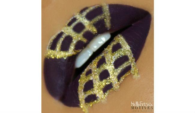 spider web lips tutorial halloween