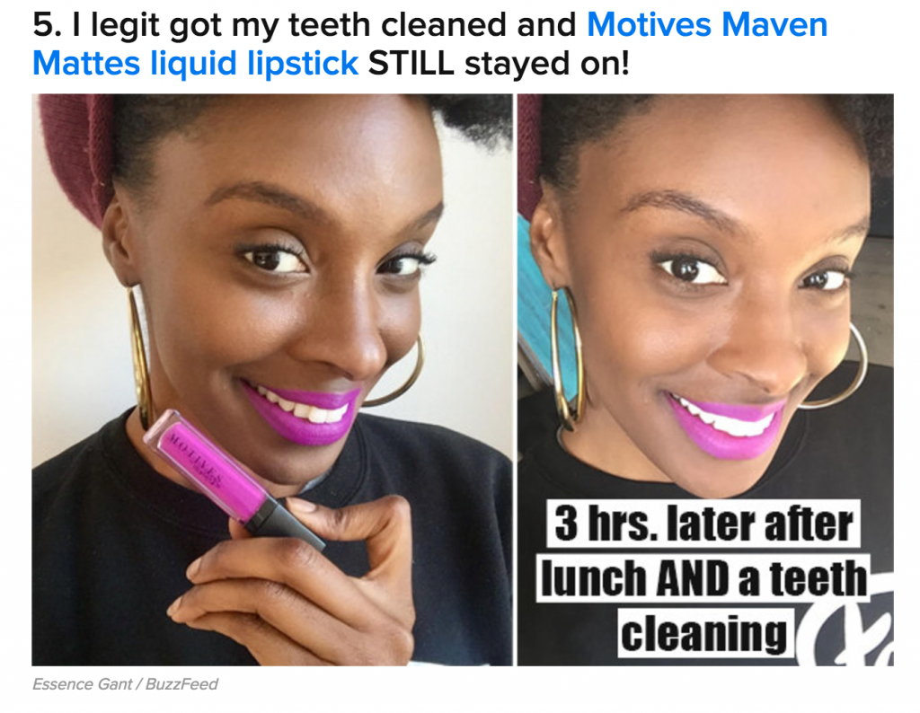 Motives Cosmetics Featured in BuzzFeed Review