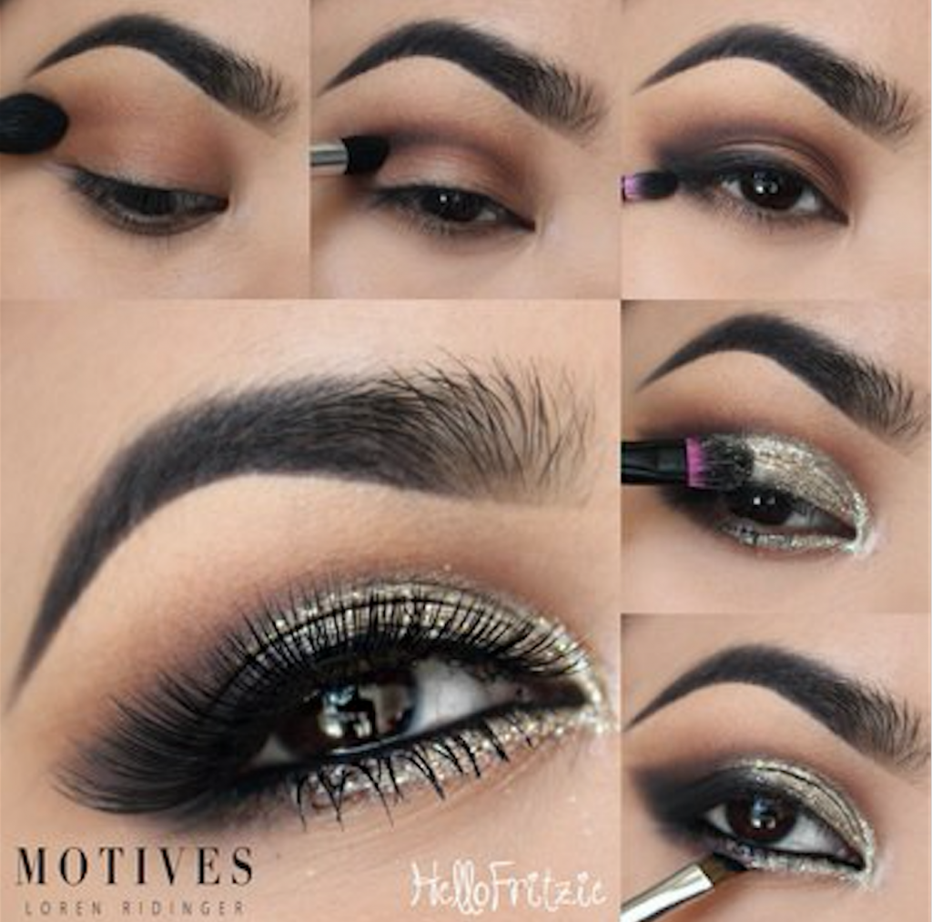 Silver Smokey Eye Tutorial for New Year's Eve with Motives
