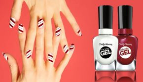 A Candy Cane Nails Tutorial by Sally Hansen