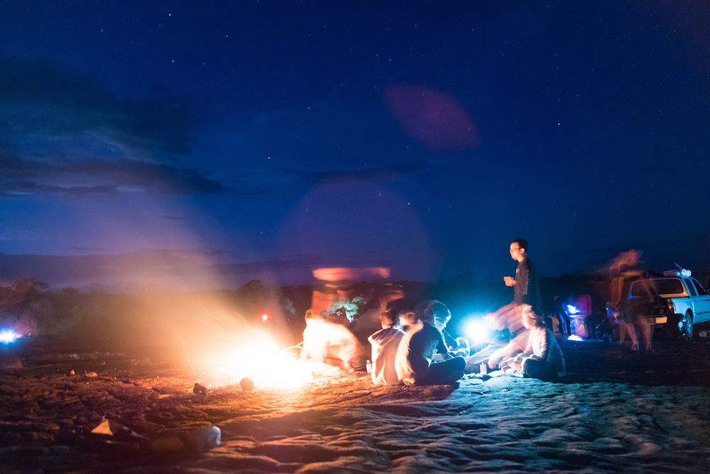bon fire at the beach
