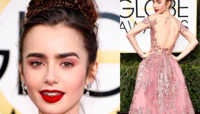 Get the Look: Lily Collins at the Golden Globe Awards