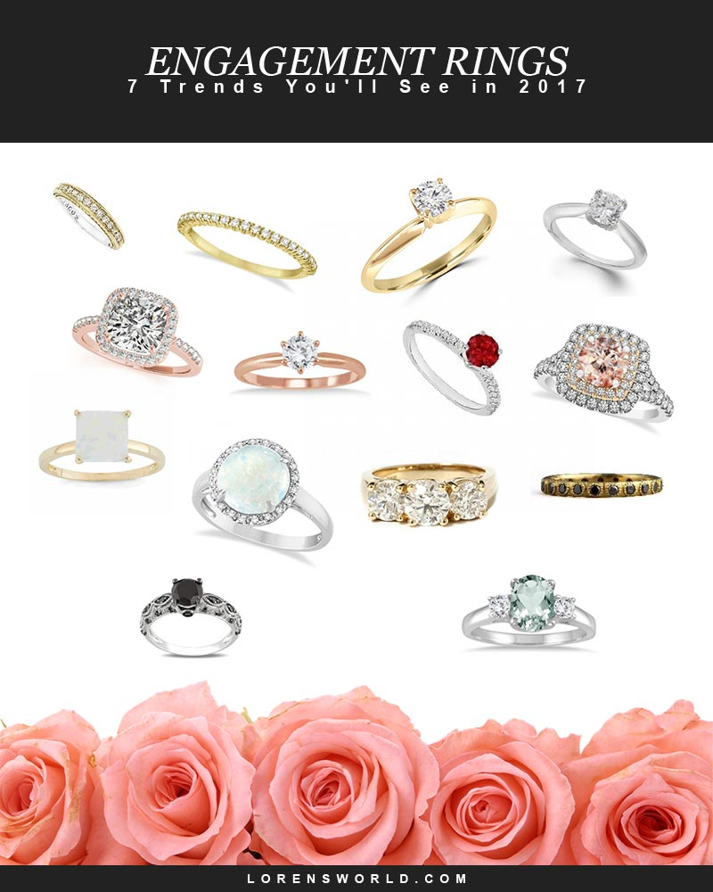 7 Engagement Ring Trends You'll See in 2017