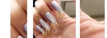 nail trend, kim kardashian, nail trend, nail art, chain nails, nails, nail,