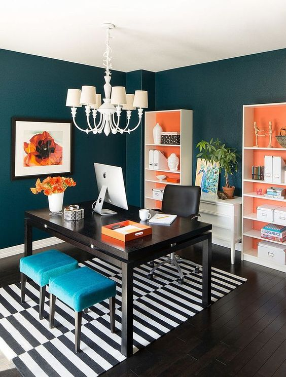 Superior 8 Powerful Colors To Paint Your Home Office