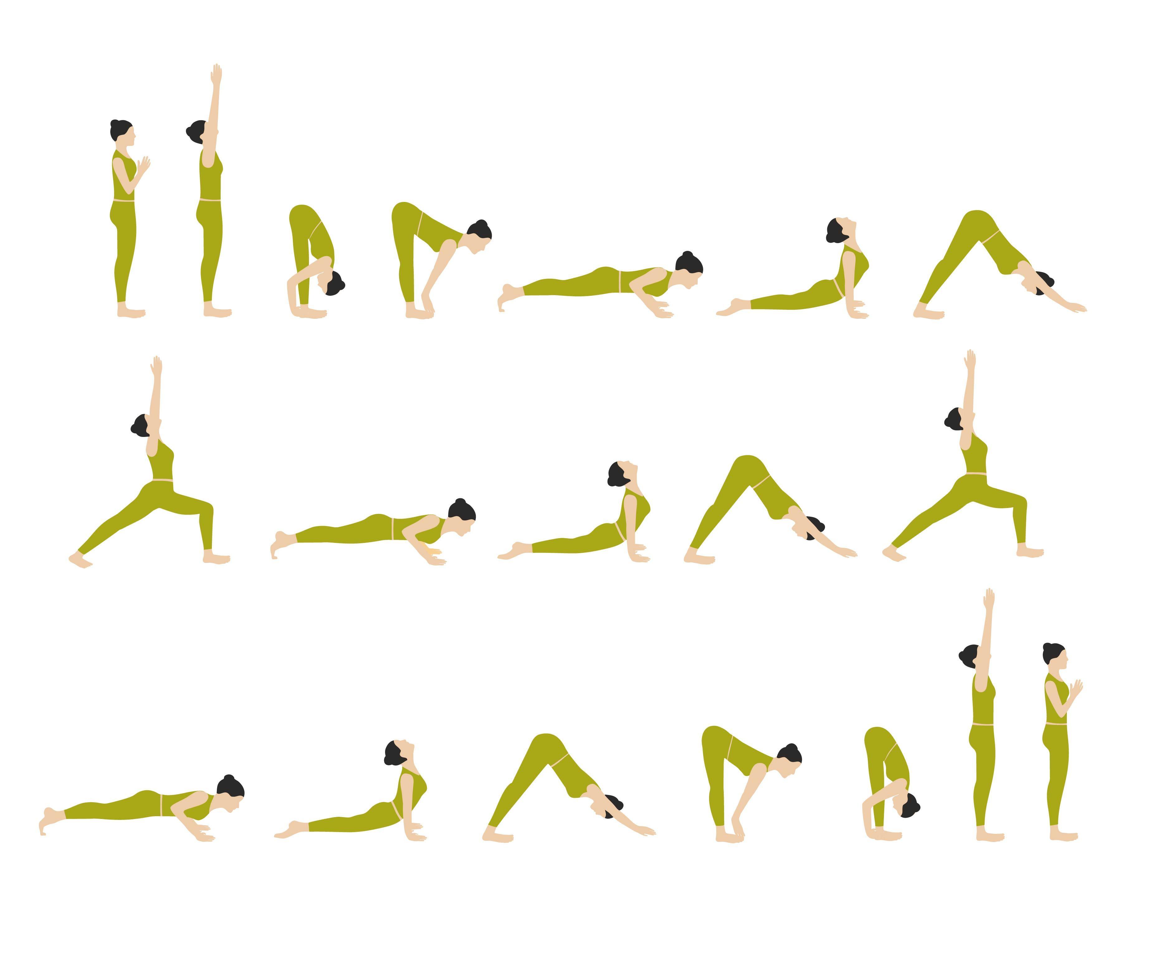 Sun Salutation Yoga Poses Chart