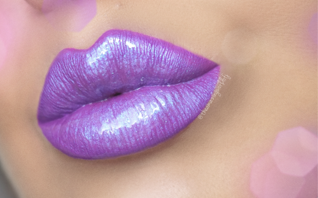 Get the Look: Purple Diamond Lips with Motives Cosmetics