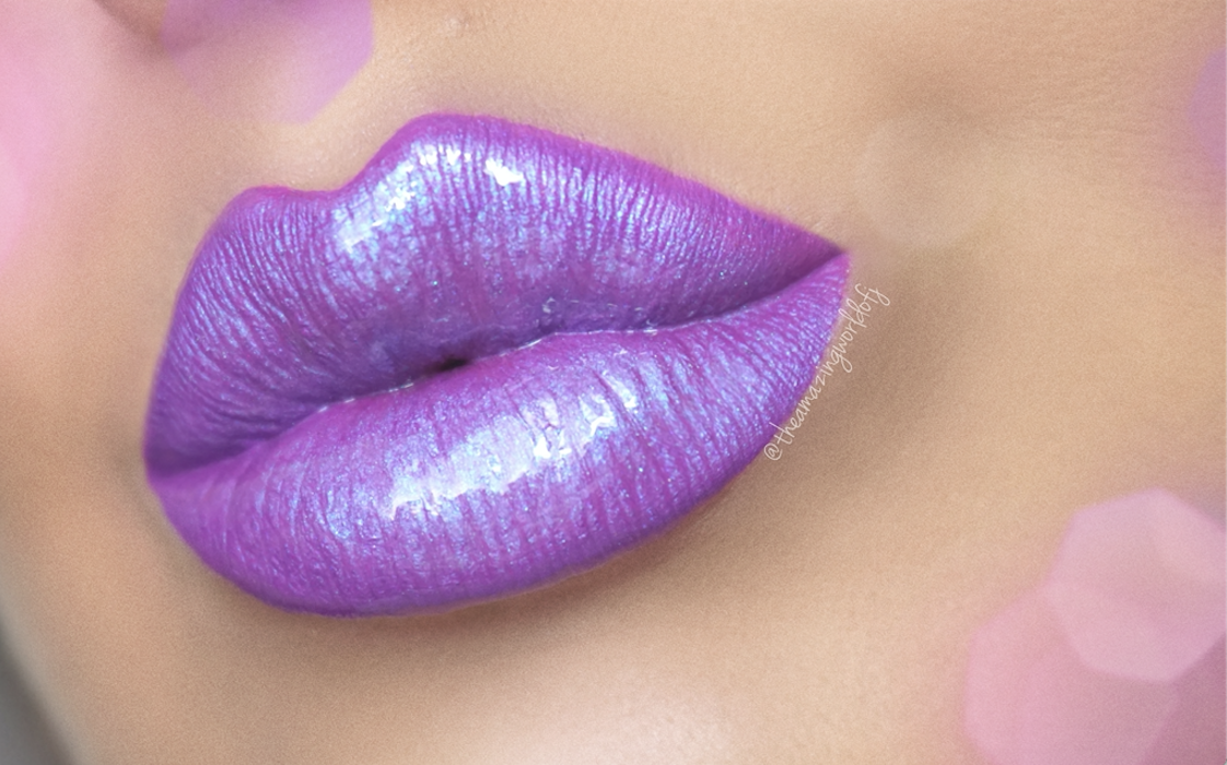 Get the Look: Purple Diamond Lips with Motives Cosmetics