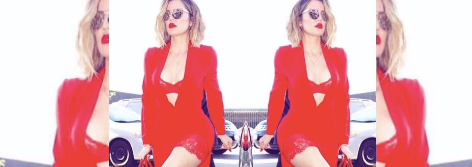 khloe, khloe kardashian, all red, power outfit, celebrity style