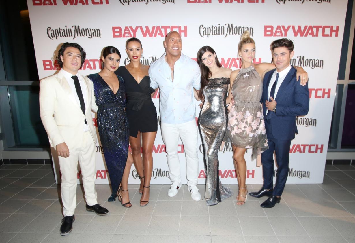"Dwayne Johnson Premieres ""Baywatch"" in Miami"