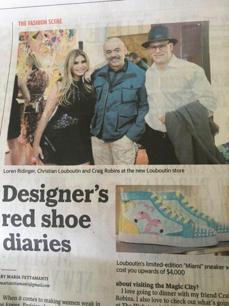 Loren Ridinger Christian Louboutin Miami Herald