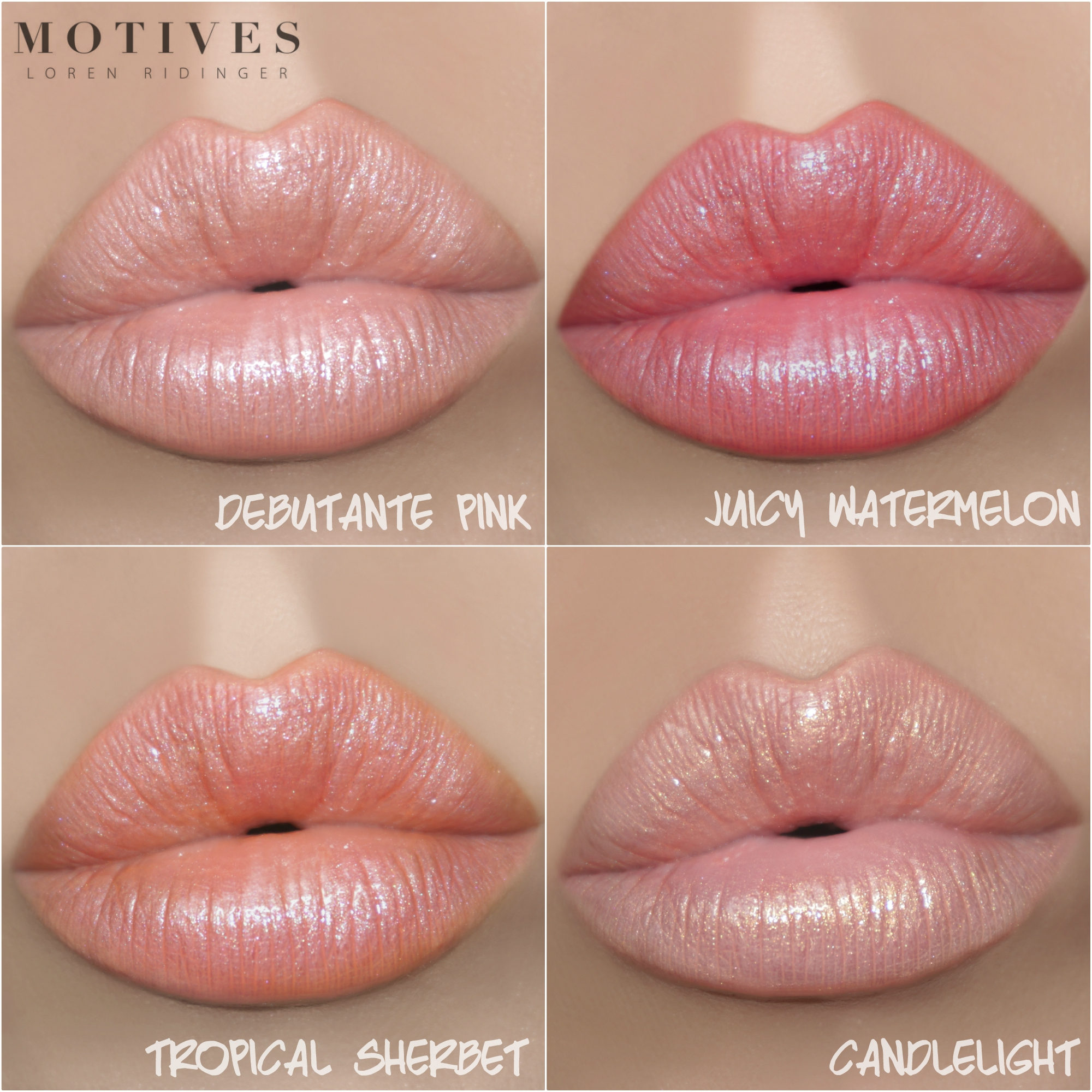 4 Shades of Summer-Ready Lip Shines from Motives Cosmetics